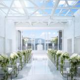 自然光の差し込む純白の空間