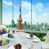 東京タワーが目の前に佇むとっておきの会場、スカイバンケット。