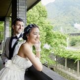 金華山や岐阜城を一望できるめぐまれたロケーション
