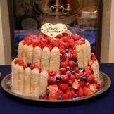 オリジナルデザインのフレッシュケーキが可能