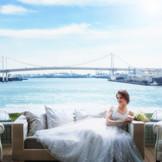 220度のパノラマビューから望む、レインボーブリッジと東京湾の絶景がお二人を祝福