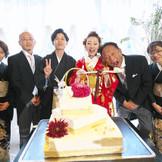 ケーキ入刀では親御様への感謝のサンクスバイト