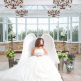 フォトジェニックな「ガーデンチャペル」での撮影〜天使の椅子に座って。