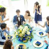 ゲストと和やかに過ごせるパーティースタイルが人気