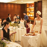 ラグジュアリーな雰囲気の中、ゲストとアットホームなパーティーも人気