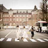 東京駅での前撮りも