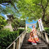 階段を昇るとそこはまさに天空の神社です