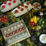 デザートワゴンは女性ゲストが喜ぶ色鮮やかな彩りに
