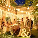 ガーデンパーティーはナイトも素敵。二次会付のロングステイプランは自己負担0円でお得!