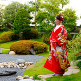 アネックス6階にある和食のレストラン「舟津」の庭園は撮影可能ですので 和装での前撮りなどでもお使い頂けます