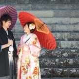 国宝善光寺で記念となるお写真撮影を
