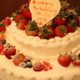 ウエディングケーキで皆様に幸せをお裾分け