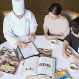 お料理はシェフとパティシエと直接お打合わせをし、世界に1つだけのコースをご提案いたします。