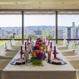 結納や家族婚でもご利用いただける最上階個室。