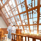 チャペルカグラでは「和装人前式」もご案内可能です。神楽坂ならではの近隣料亭での会食会もトータルでプランニング致します。