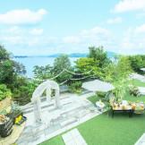 瀬戸内海の海と青空が広がる絶景のロケーションで、憧れのハウスウェディングが叶う!