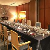 【近隣パーティ会場:ラリアンス(フランコジャポネ)】少人数会食はVIPな個室を貸切りOK。美味しい料理を囲んで和やかな会食ウェディングを。※収容人数/6~20名様