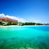 海越しに見たカフーリゾートフチャクコンド・ホテル