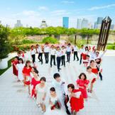 大阪城とゲスト全員で撮る記念写真はみんなとの大切な思い出に♪