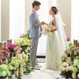 温まるセレモニースペース。お二人だけの結婚式を演出致します。