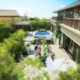 【ザ リゾート】多彩な施設を備える一軒家で、ゲストとふたりだけのプライベートウエディング