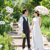 ガーデンでお花に囲まれて 前撮りにもオススメ