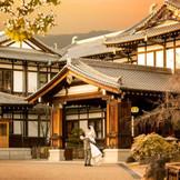 夕日に映える奈良ホテルもステキ☆
