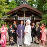 豊かな緑やご家族に囲まれての梨木神社挙式
