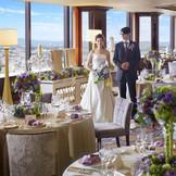 オークラアクトシティホテル浜松のレストランウェディング☆絶景を眺めながらのパーティーはお二人にもゲストにも記憶に残る一日に!記念日にはレストランで記念日ディナーを♪お二人の思い出に残る場所になります☆