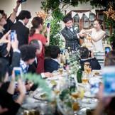 披露宴はレストランならではのアットホームな雰囲気の中で。お料理はもちろん、ケーキもお二人のイメージをもとにおつくり致します。インスタ映えもバッチリです!「徳島」で「結婚式」なら「ノビアノビオ」