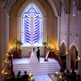 ステンドグラスが美しいゴシック様式の大聖堂