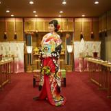 400年以上歴史のある大館神明社の御分霊を奉斎、大館神明社の神主による古式ゆかしき伝統的な神前式が叶います!