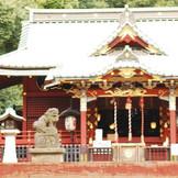 渋谷区指定文化財に指定されている総漆塗りの御社殿