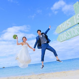 ビーチフォトプランは挙式に砂浜での撮影がついて7万9800円!