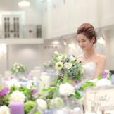 会場の雰囲気や新婦様のお衣裳によってコーディネートが変わり、会場が全く違った雰囲気になります♪♪