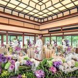 格式の高さを表す折上格天井など、大切な方をもてなすにふさわしい上質空間を貸切に。