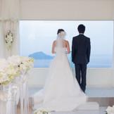 """恋人の聖地""""神島""""に誓う結婚式"""