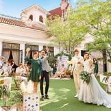 ガーデン付邸宅はプライベート感満載♪自分達らしく飾ってゲストをもてなそう!