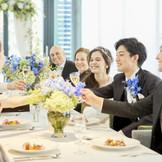 ご家族、親しい友人などお世話になった方達と一緒に過ごす至福の時間。