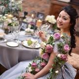 ドレスと合わせてテーブルもコーディネートすると素敵♪