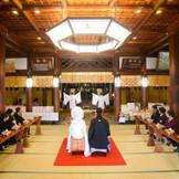 縁結びの神様を祀る播磨国総社。 48名まで参列できる