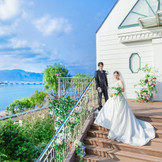 琵琶湖の畔にたたずむ独立型チャペル