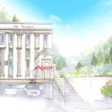 上質なインテリアで設えたドレスショップなどはエントランスに建つウエディングサロン棟に(完成予想図)