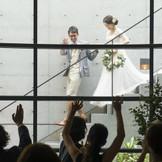 テラス階段からの入場は、アイビーテラスならではのサプライズ演出! 映画の1シーンのような、ロマンチックな入場をぜひ!!
