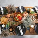 ゲストの皆様と、料理をシェアして楽しめます。