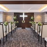 最上階テラスラウンジでのキリスト教式も可能