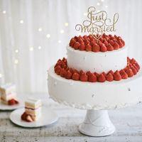 苺のデコレーションケーキ。