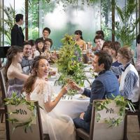 【オリエンタル邸】 ウォーターフロントのある邸宅は緑と水と風の心地よいリゾート感溢れる邸宅 親しいゲストと一緒に囲むテーブルスタイルもおすすめ