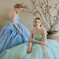 春先にぴったりなパステルカラーのドレス