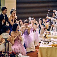 パーティで人気度の高いカフェディアブルは、ゲスト全員の気持ちをガッチリ掴む臨場感溢れる薫り高い演出♪クレアージュ リゾートだけのオリジナル。
